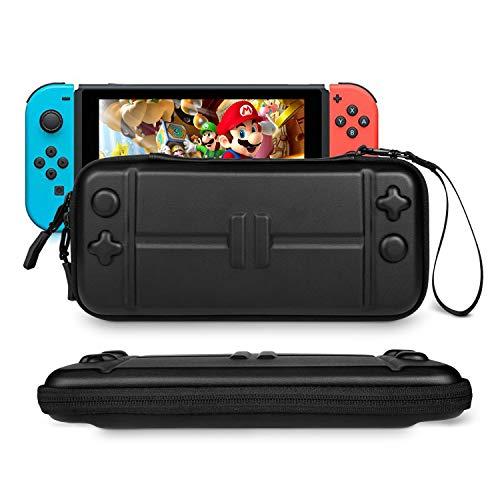 Tasche für Nintendo Switch - Younik Verbesserte Version Harte Reise Hülle Case für 8 Spiele & Nintendo Switch Console & Zubehör(schlank)