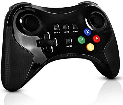 Game controller for Wii U Pro, PowerLead Wireless-Controller Gamepad-Arbeit für Nintendo Wii U Wiederaufla dbarer Bluetooth-Controller Joystick Dual-Analog-Spiel (Upgrade-Version)